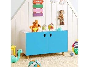 Úložný prostor do dětského pokoje modrý