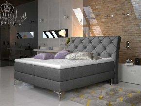 Čalouněná postel ADEL Boxsprings 160 x 200 cm (Provedení Dora 96)