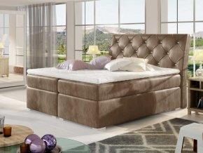 Čalouněná postel BALVIN Boxsprings 160 x 200 cm (Provedení Monolith 09)