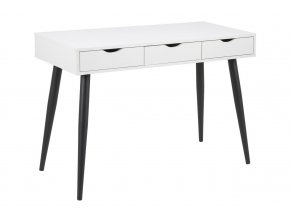 psací stůl neptun bílý černé nohy