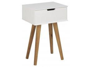 noční stolek bílý dlouhé nohy