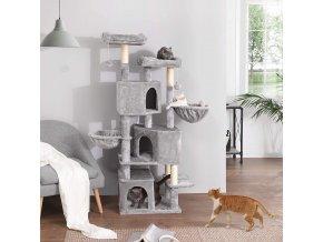škrabadlo pro kočky světle šedé