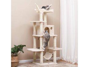 škrabadlo pro kočky béžové