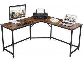 Kancelářský stůl rohový hnědý