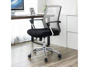 nastvitelná kancelářská židle černošedá