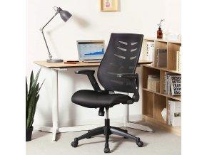 ergonomické kancelářské křeslo moderní černé