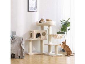 Stabilní kočičí strom béžový