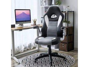 kancelářské křeslo černá šedá bílá