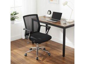 kancelářská židle s područkami černá