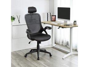 moderní kancelářské křeslo s opěrkou hlavy