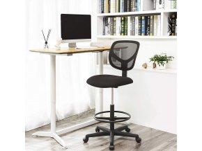 vysoká kancelářská židle černá