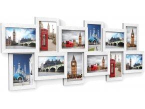 nástěnné obrázky 10 x 15 cm bílé 12 ks