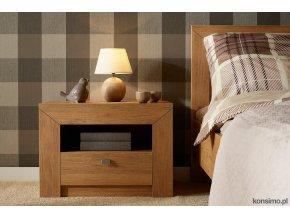 moderní noční stolek dekor dub