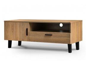 moderní tv stolek dub