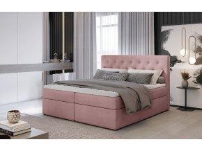 Čalouněná postel LOREE, 140 x 200 cm, provedení Mat Velvet 63