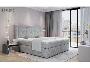 Čalouněná postel IDRIS, 140, 160, 180 x 200 cm, provedení Berlin 01