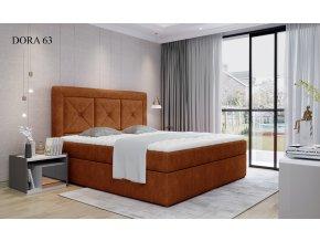 Čalouněná postel IDRIS, 140, 160, 180 x 200 cm, provedení Dora 63