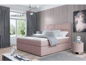 Čalouněná postel MERON, 140, 160, 180 x 200 cm, provedení Omega 91
