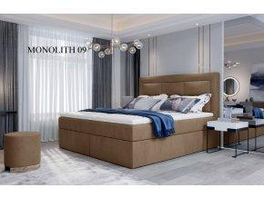 Čalouněná postel VIVRE, 140, 160, 180 x 200 cm, provedení Monolith 09