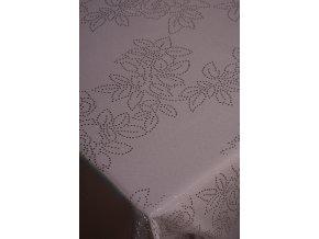 šedý ubrus květinový vzor