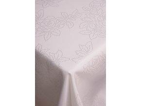Ubrus bílý květinový vzor