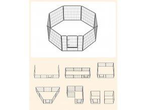ohrádka pro psy 8 dílů