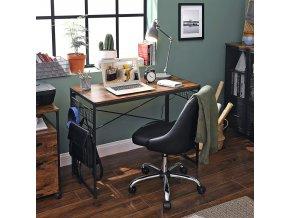 skládací psací stůl s háčky