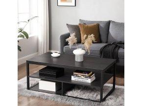 kovový konferenční stolek černý