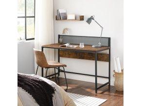 moderní pc stůl hnědý černý
