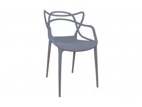 Židle SLIMBI šedá 01