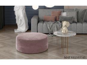 Čalouněný taburet BERO, provedení Mat Velvet 63