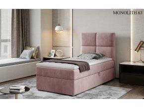 Čalouněná postel RIVIA, provedení Monolith 63