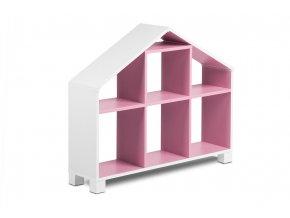 Dětský regál k posteli MIRUM 04 bílý růžový