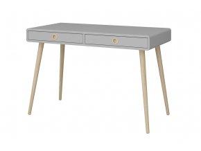 Psací stůl SOFTLINE dvě zásuvky šedý07