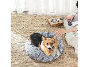 kulatý plyšový pelíšek pro psy