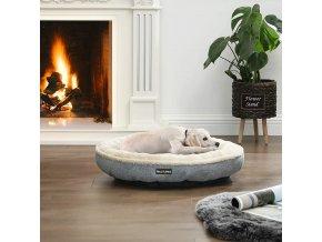 pelíšek pro psy béžový šedý