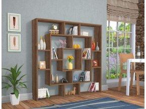 knihovna hnědá