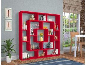 knihovna červená