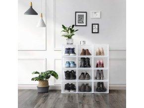 transparentní box na obuv