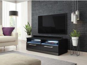 Televizní stolek BONN s LED osvětlením, černý