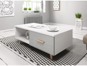 Konferenční stolek SWEDEN 3, bílošedý