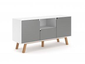 Televizní stolek TOKIO TK1, bílošedý