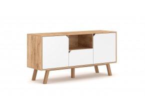 Televizní stolek TOKIO TK1, dub craft/bílý