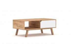 Konferenční stolek TOKIO dub/bílý