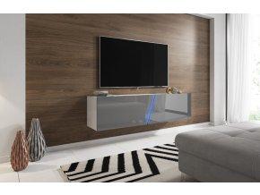 Televizní stolek Slant 160 šedý/bílý