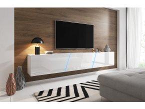 Televizní stolek Slant 240 bílý