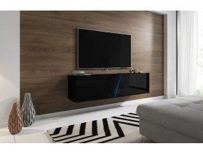 Televizní stolek Slant 160 černý