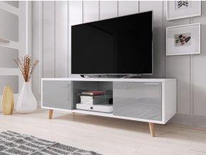 Televizní stolek Sweden bílý/šedý
