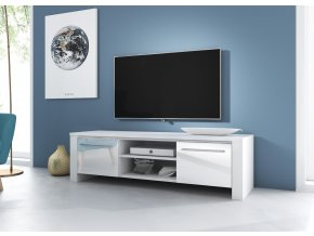 Televizní stolek Manhattan bílý