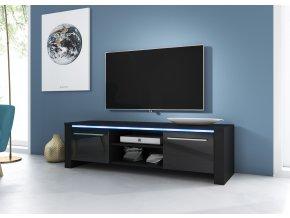 Televizní stolek Manhattan černý s LED osvětlením
